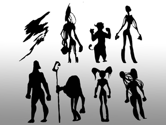 Silhouette concepts by LukeHenry