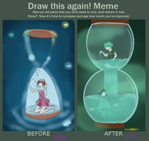 Before And After: Hourglass by CatoriKishin