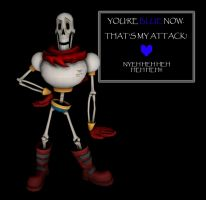 You're blue now! [UNDERTALE - PAPYRUS][SFM] by VR-MMORPG