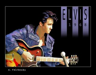 Elvis Presley 1968 by kfairbanks