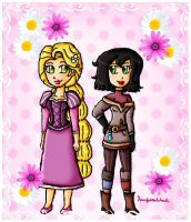 Rapunzel and Cassandra by ninpeachlover