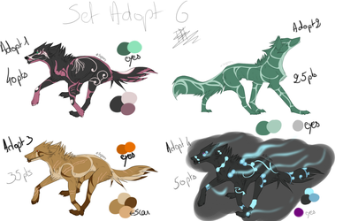 Wolves Adoptables 6 [OPEN 2/4] by Funkimina