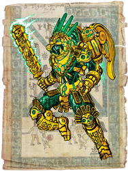 Quetzalcoatl, the man from beyond the stars by Darksilvania
