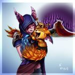 Xayah, Gnar and the Death of the Swan by GroxikavonDarkside