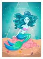 Blue Mermaid by lauramiclea