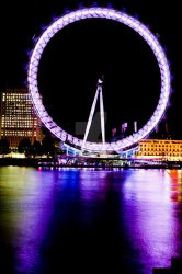 Southbank London Eye Wheel by HCKPhotography