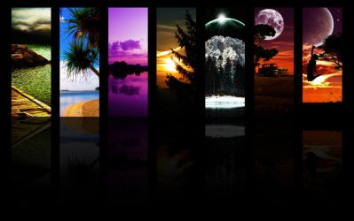 7 landscapes wallpaper by ShangyneX