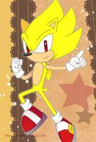 Sonic Postcard - Super Sonic by Crystal-Ribbon