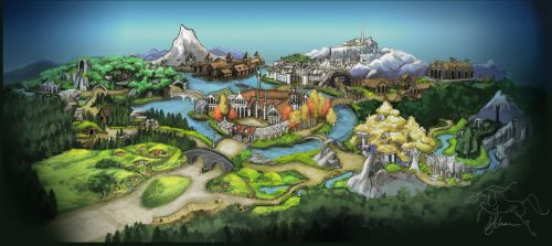 Middle Earth Theme Park by lunatteo