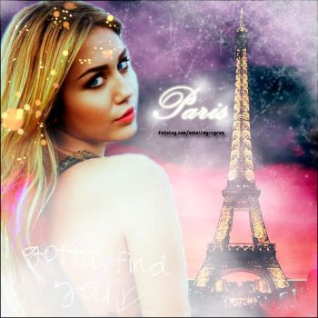 Miley Cyrus in Paris by onlmileyrcyrus