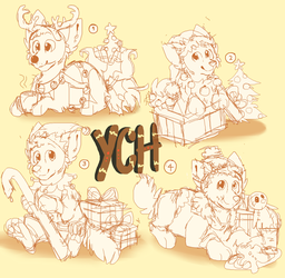 Christmas Chibi YCH's [CLOSED] by Ghoul-bite