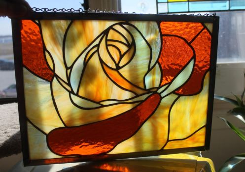 STAINED GLASS ROSE by lenslady