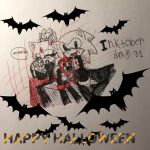 Inktober day 31, Vampire family ^^ by knockoutandsonic