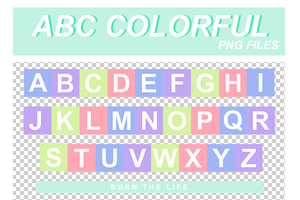 ABC Colorful by Burn-the-life