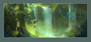 Rio2 Waterfall Study by NathanFowkesArt