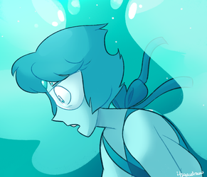 Turquoise (Lapis + Peridot Fusion) by itsaaudraw