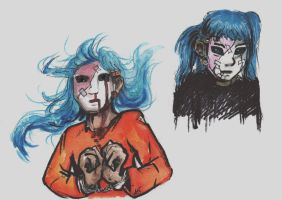 Sally Face:  Sal sketches by TiamatART