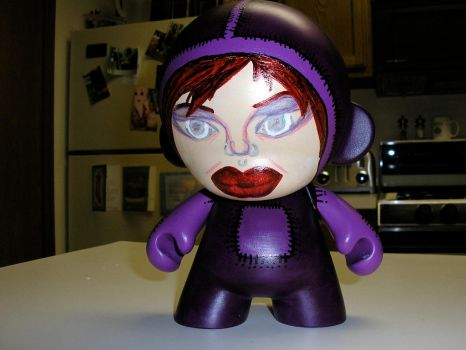 Purple Munny Girl by MahLee