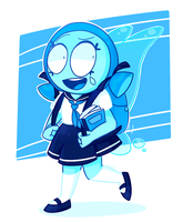SU-Aquamarine In School Uniform by 763Lilypadpandaowl