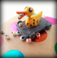 Duck toy miniature by maryazzfire