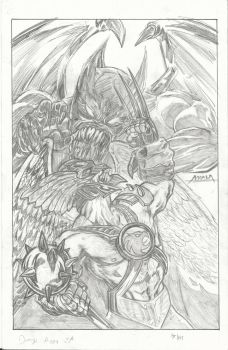 hawkman vs morphicius by ElDiabloChingon