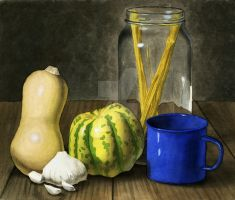 Still Life with Squash by elizabethnixon