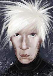 Portrait of Andy Warhol by jpaolonovelli