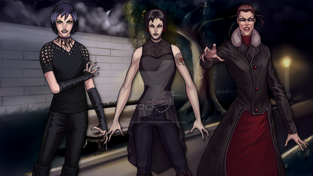 Vampires Rule the Night by projectvampire