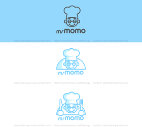 Momo Restaurant Logo  (For Sale) by DianaGyms