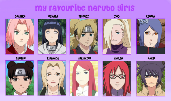 My Favorite Naruto Girls by Lady-Zaeliea