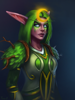 Night Elf druid by LoastToast