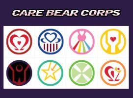 Care Bear Corps Buttons by GlowingMember