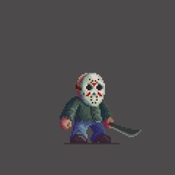 Jason Voorhees Pixel Art by Dulcahn