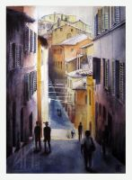 Street in Siena by ramdens
