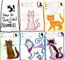 5! Ways To Draw Cats (REMAKE GASP) by comical-lobster