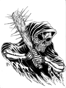 Grim Reaper with Spiked Bat by Ranarchy