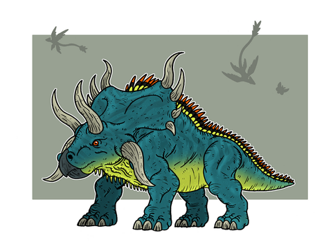 Ceratopsian by McSlackerton
