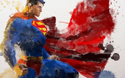 Superman Water colour by zosco