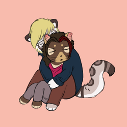 Cuddle by SketchyBlurry
