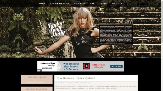 Taylor Swift Wordpress Premade by BurningBrightDesigns
