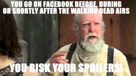 The Walking Dead - You Risk Your Spoilers! by codebreaker2001
