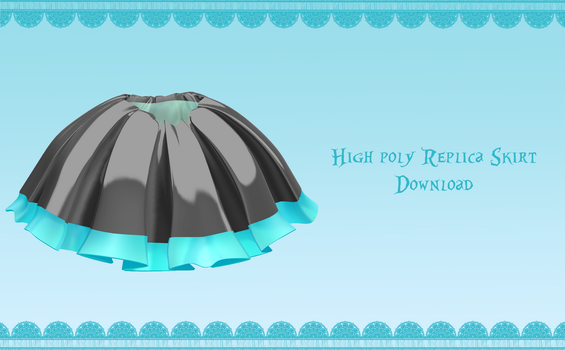 High-Poly Replica skirt [ DOWNLOAD ] by Avant-Garde3D