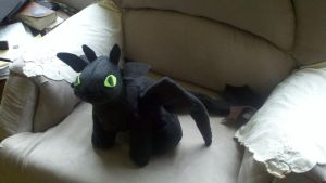 Toothless plush by lithele