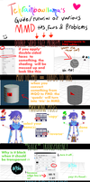 MMD guide to tips, facts and  problems by Tehrainbowllama