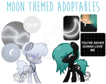 [RE-UPLOAD 1/2 OPEN] Moon sisters ponies by Fireflys-Adopts