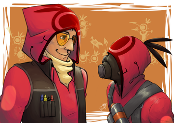 Patapon TF2 Sniper and Pyro. by ShiyakuSarutobi