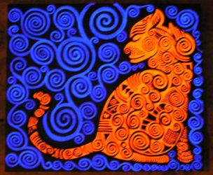 glowing cat by Evilpainter