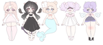 (OPEN) Mythical Creatures Adoptables by ggaLli