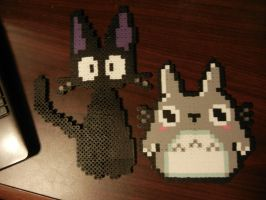 Kikis Cat and Totoro by WinterCosplay