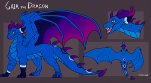 Gaia the Dragon Reference 2018 by meroaw